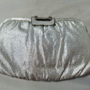 Handbags - Vintage Silvery Glittery Clutch Bag Purse